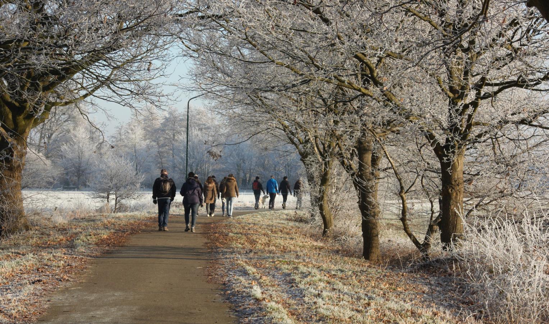 Sjan Arts maakte de winnende foto van de Winterwandeltocht in 2016.