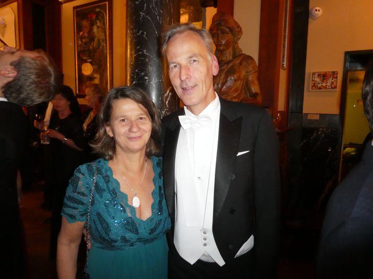 Organisator Marco van der Noordaa en zijn vrouw Ines Rupp.