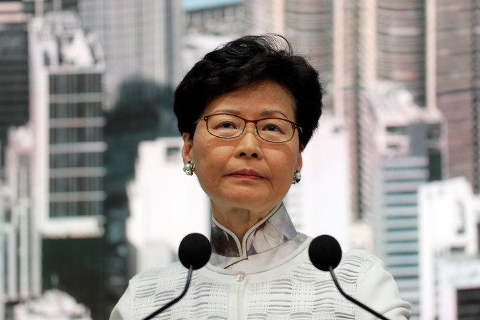 Carrie Lam, la cheffe de l'exécutif de Hong Kong.