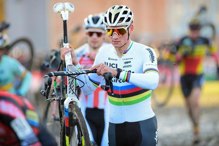 Van der Poel won gisteren ook al in Kortrijk.