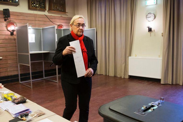 Lutz Jacobi (PvdA) brengt haar stem uit Beeld ANP