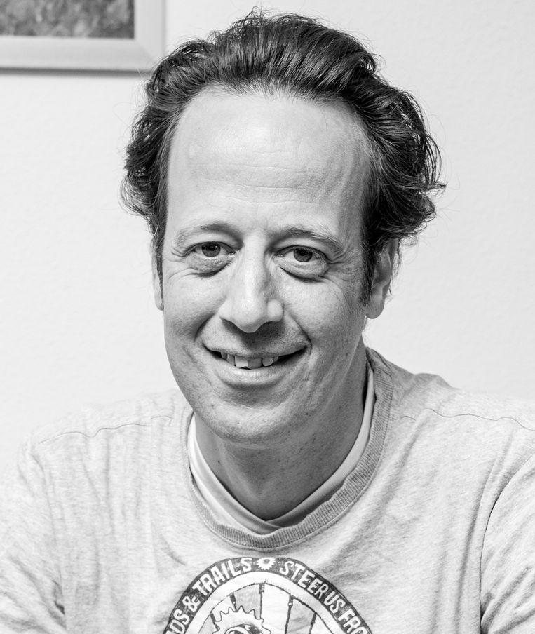 Mohammed Guellaï, basisschoolleraar op IKC Tuindorp in Amsterdam. Beeld Jakob Van Vliet