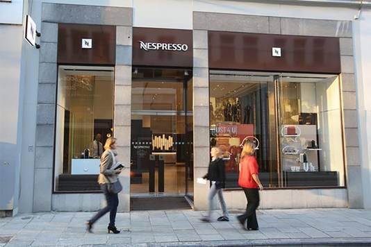De Nespresso Boutique in de Zonnestraat in Gent