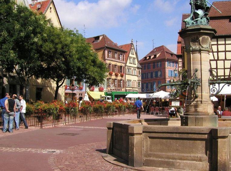 De oude binnenstad van Colmar in de Elzas.