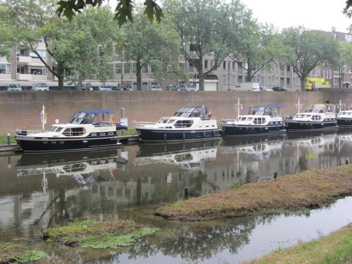 De Dommel in het centrum van Den Bosch waar de Rubberbotenparty plaats gaat vinden.