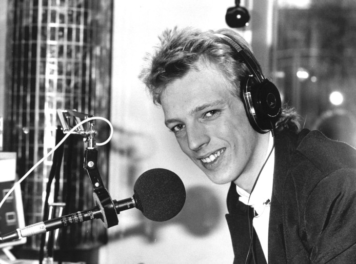 Radioman Sjors Fröhlich in de jaren tachtig.