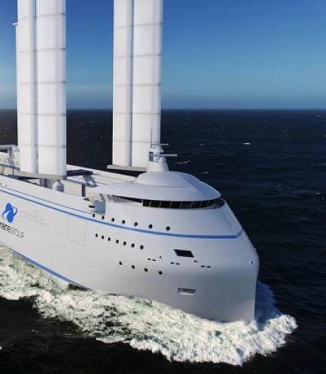 Dit futuristische zeilschip vaart straks met ultragevoelige raketten de Atlantische Oceaan over