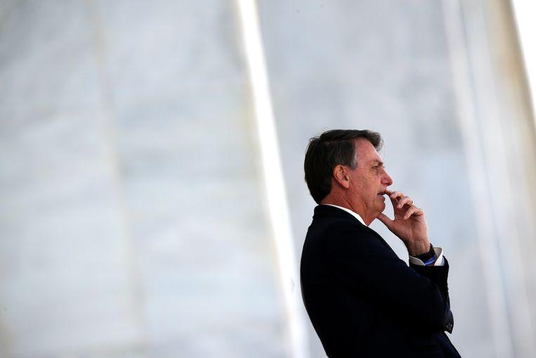 De Braziliaanse President Jair Bolsonaro zou onder meer de baas van de federale politie hebben willen wegwerken. Beeld REUTERS