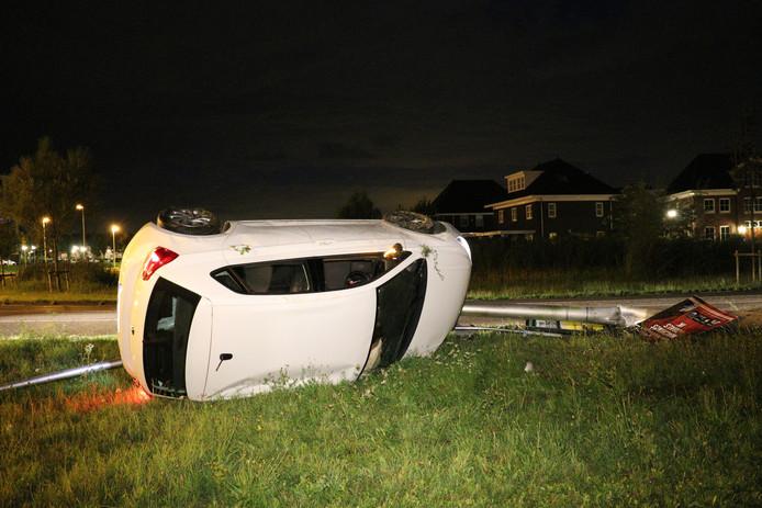 Het ongeluk gebeurde op de Europaweg in Vleuten.
