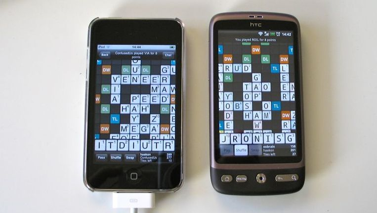 Wordfeud is ook internationaal een succes © Wordfeudblog Beeld