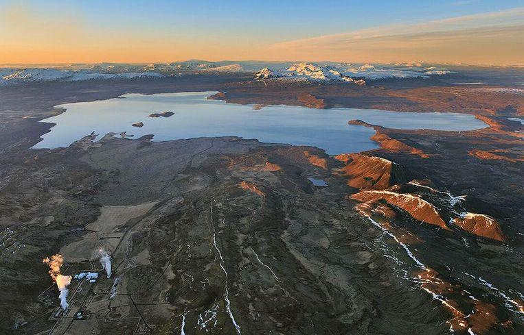 Het IJslandse  Þingvallavatn-meer.