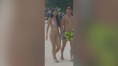 Vrouw wordt opgepakt voor te kleine bikini