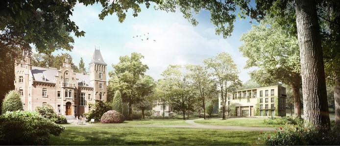 Een impressie van nieuwbouw op lnadgoed Roucouleur in Vught.