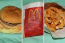 De hamburger en frietjes zien er na zes jaar nog verrassend vers uit.