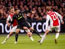 Matthijs de Ligt in duel met Cristiano Ronaldo tijdens Ajax - Juventus eerder dit jaar.