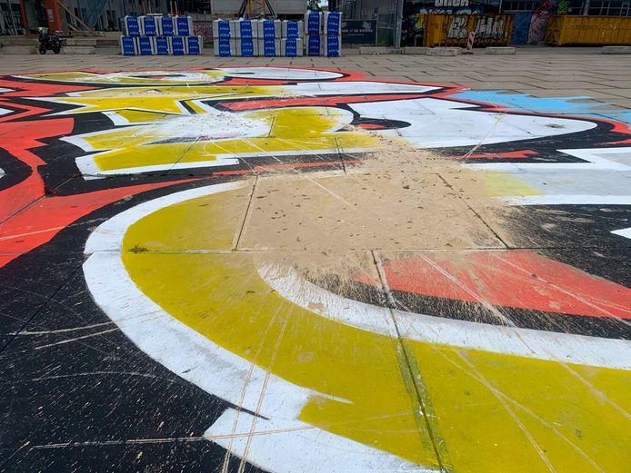 Black Lives Matter-kunstwerk beklad in Eindhoven.