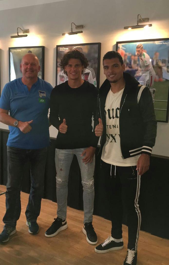 Omar Rekik (midden) en Karim Rekik (rechts) bij Hertha BSC.