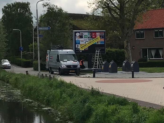 ,,Dit lijkt me niet de bedoeling op zondag'', tweette CDA-raadslid Jan Arie Koorevaar bij deze foto uit zijn woonplaats Goudriaan.