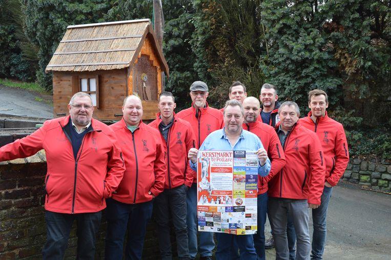 De organisatoren van het kerstmarktcomité van Pollare.