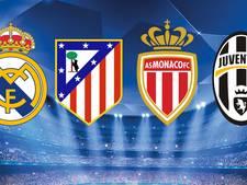 Madrileense derby in halve finale, Juventus treft Monaco