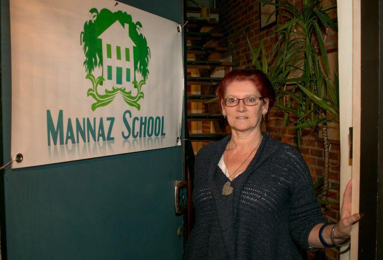 Annick Lentacker, oprichter van de Mannaz-scholen, die sinds september ook een afdeling in Sint-Niklaas heeft.