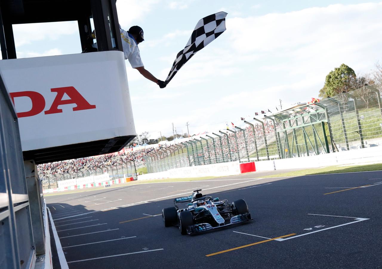 Lewis Hamilton won vorig jaar de Grand Prix van Japan.