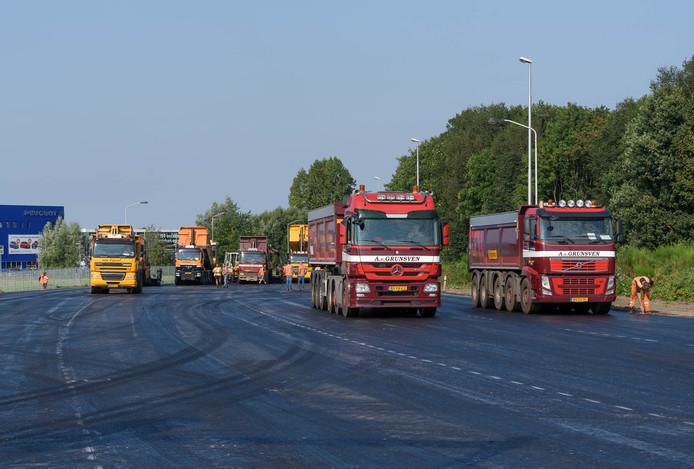 Werk aan de noordelijke randweg Breda.