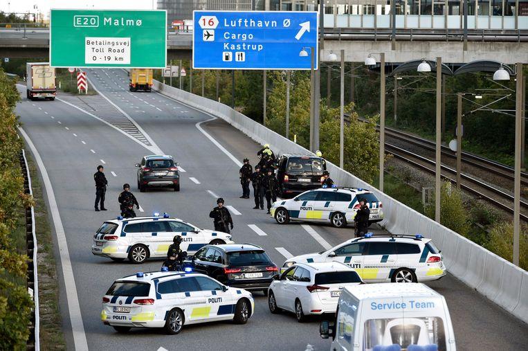 Een politieactie in 2018 bij Kopenhagen na berichten dat een aanslag zou worden gepleegd op een Iraanse activist die tegen het regime in Teheran was.  Beeld EPA