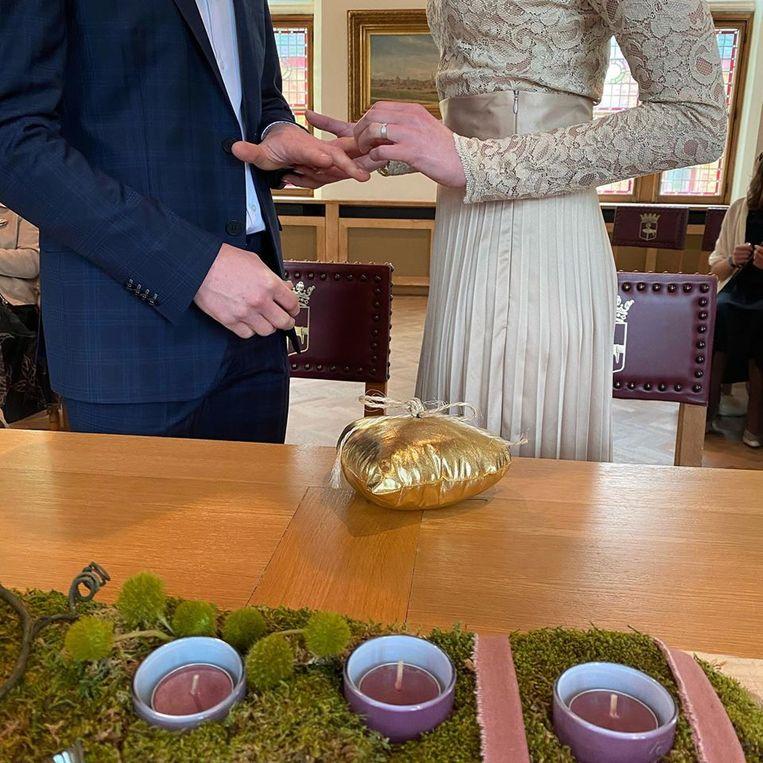 Gwendoline en Philippe zijn getrouwd op Valentijnsdag in Poperinge.