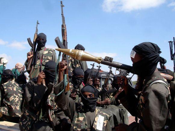 Leden van de islamitische terreurorganisatie al-Shabaab (Archiefbeeld).