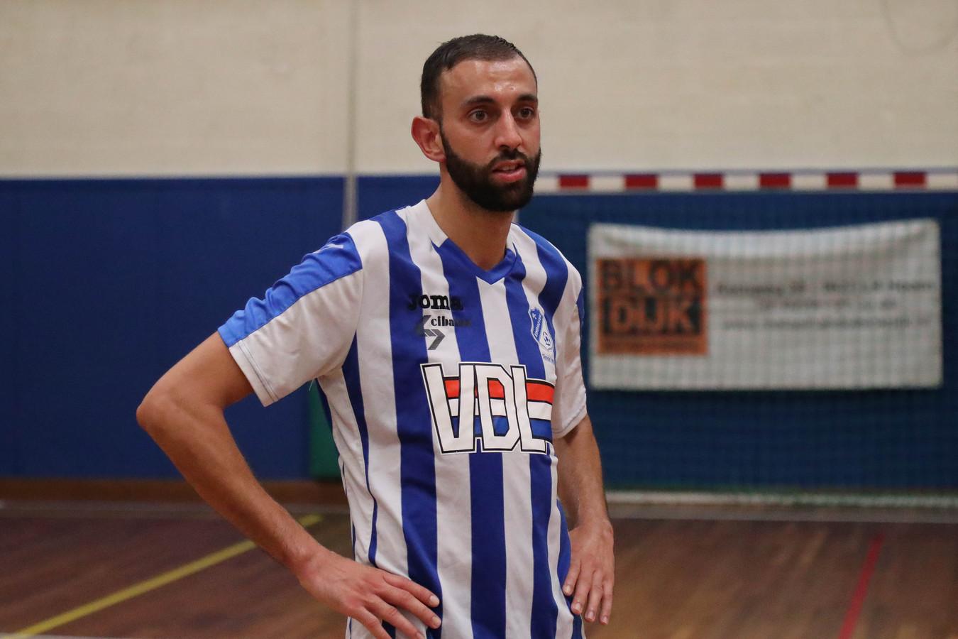 Teleurstelling bij Jamal el Ghannouti  na de 3-1 nederlaag.