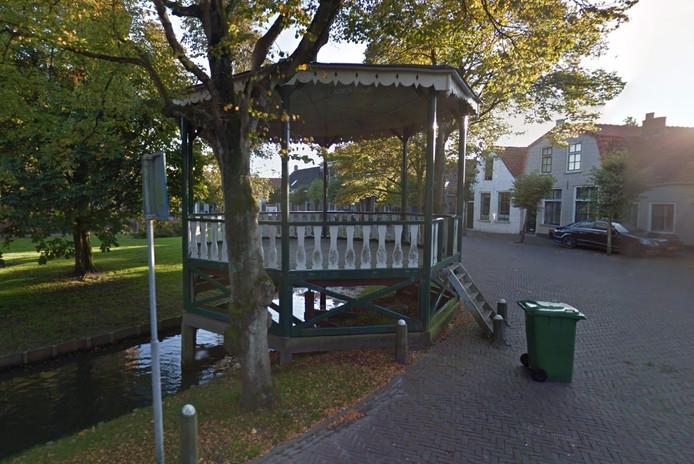De muziektent in Noordgouwe.