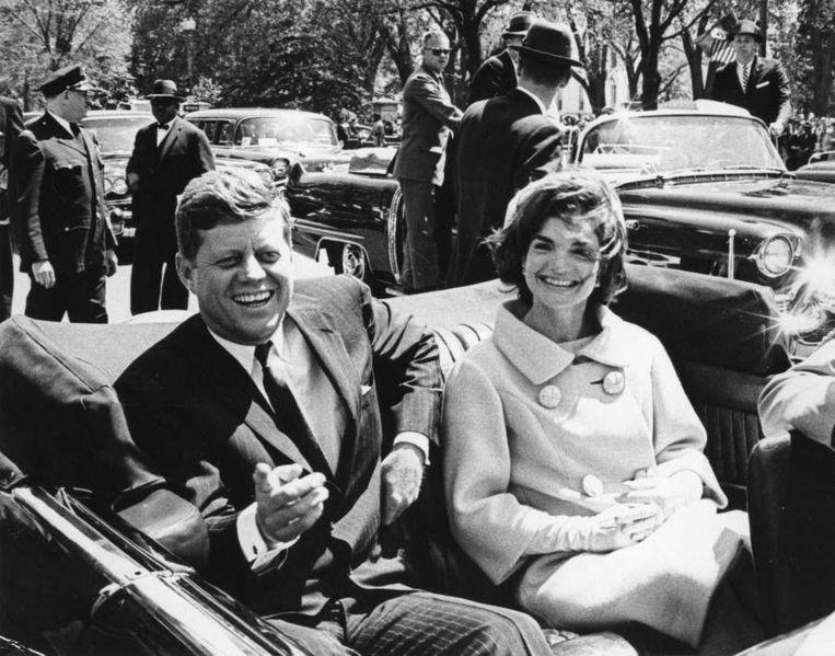 Jackie Kennedy toen ze nog getrouwd was met John F. Kennedy.  Beeld Reuters