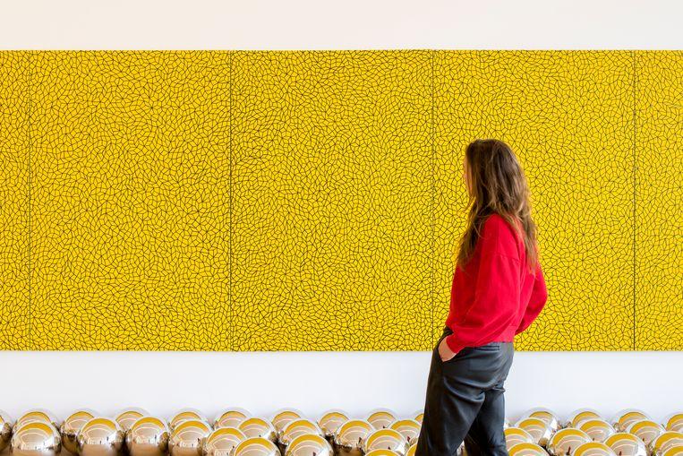 Yayoi Kusama, Infinity Nets. Beeld Antoine van Kaam, Collectie museum Voorlinden