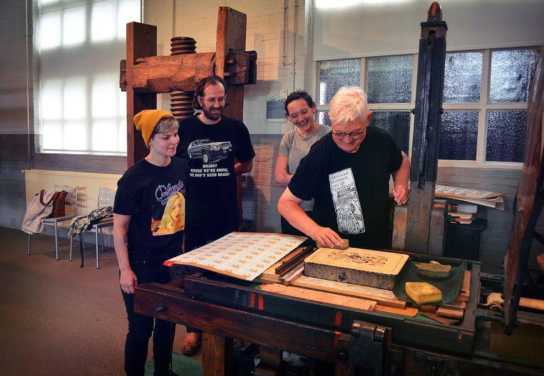 Van links naar rechts: Laura Meeus, Dries Leysen, Eline Van Deun en Cyriel Verbist.