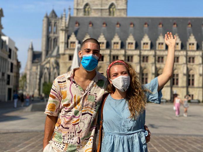Robin en Manon, na meer dan zes maanden terug in Gent.