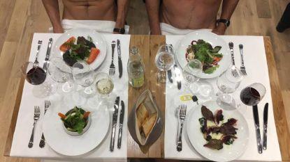 Restaurant voor nudisten geopend in Parijs: gasten moeten wel pantoffels dragen