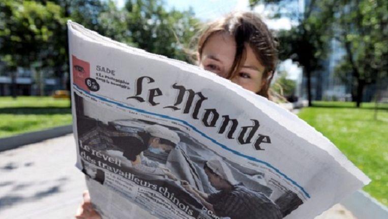 Franse krant Le Monde Beeld anp