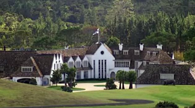 Het huis in Auckland. Geschatte waarde: $ 40 miljoen
