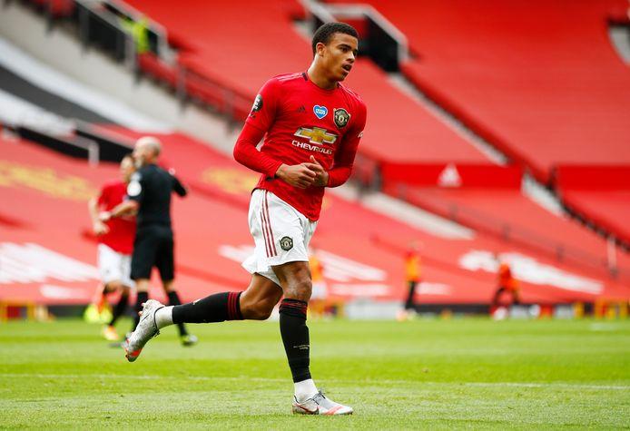 Mason Greenwood (18) scoorde dit seizoen al vijftien keer voor Manchester United.