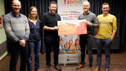 Neerpelt schenkt 1.000 euro aan vzw 't Kietelt