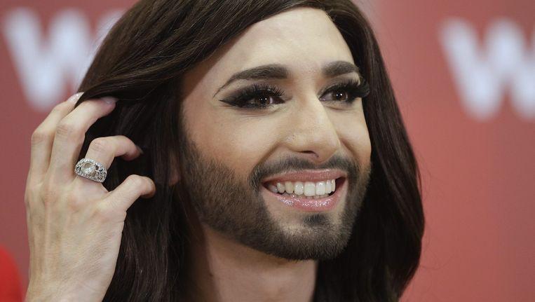 De festivalzege van Conchita Wurst heeft de discussie over de rechten van seksuele minderheden in Oostenrijk doen oplaaien. Beeld epa