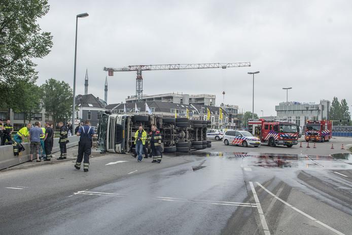 Hulpdiensten ter plaatse op Westplein