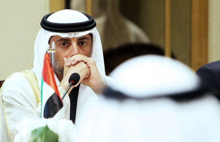 Minister van Energie Suhail Al-Mazrouei van OPEC-lid Verenigde Arabische Emiraten