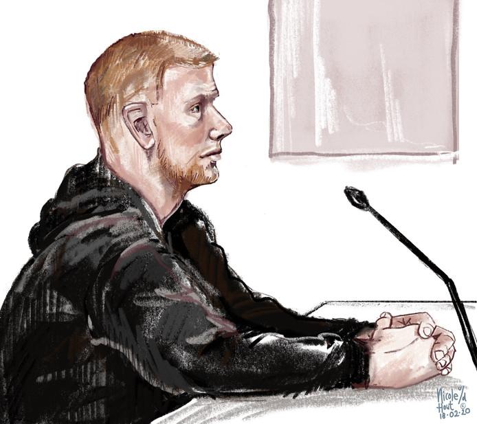 Jeffrey K. (21) wordt verdacht van het plegen van een aanslag met een vuurwerkbom.