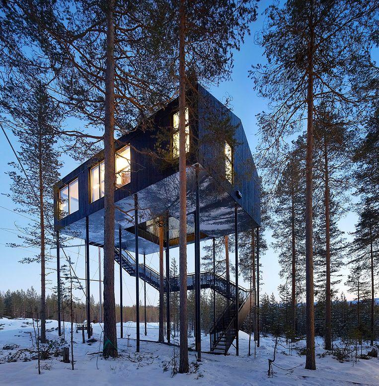 Een Treehotel in Zweden.