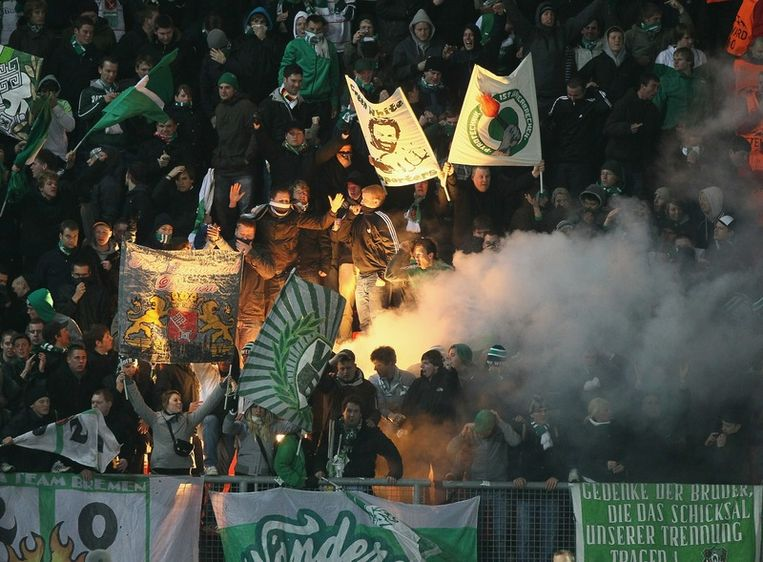 Werder Bremen fans Beeld