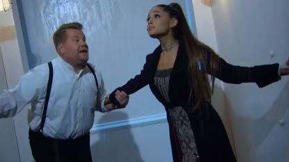 """James Corden en Ariana Grande scoren hit met briljante """"remake"""" van 'Titanic'"""