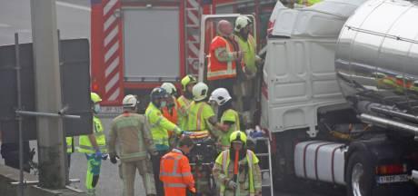 Un blessé grave dans un accident impressionnant sur la E40 à Grand-Bigard