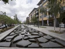 Voetgangerszone rondom winkelcentrum in Roombeek